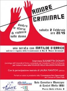amore criminale manifesto